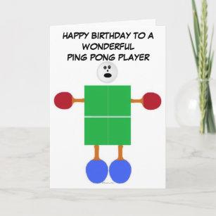 Birthday Card Greeting Card I Love Table Tennis