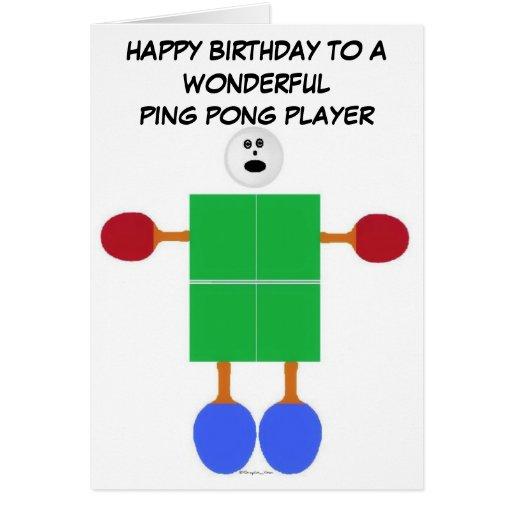 Ping Pong Birthday Greeting Card