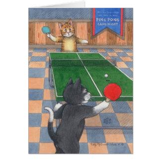 Ping Pong Cats Birthday Bud & Tony Notecard