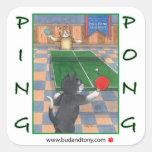 Ping Pong Cats Bud & Tony Sticker