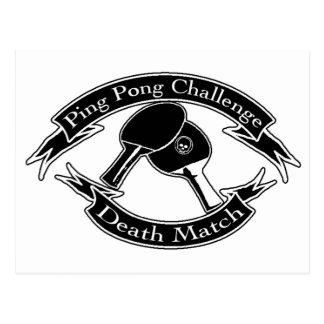 Ping Pong Challange Death Match Postcard