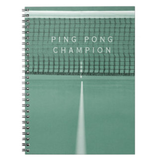 Ping Pong Champion Table Tennis Score Notebook