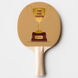 Ping Pong Champion Trophy Paddle
