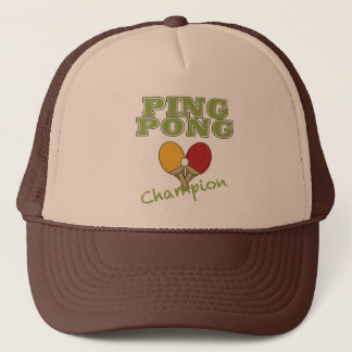 Ping Pong Champion Trucker Hat