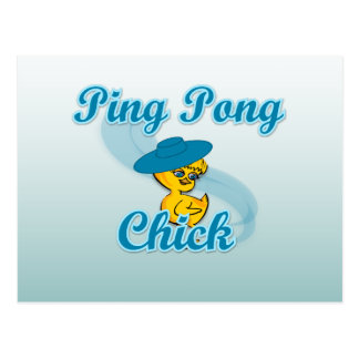Ping Pong Chick 3 Postcards