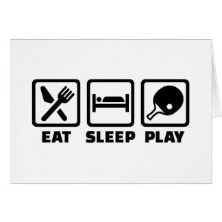 Ping-pong de Eat Sleep Play Tarjetón