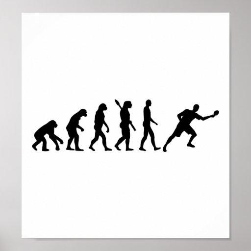 Ping-pong de los tenis de mesa de la evolución poster