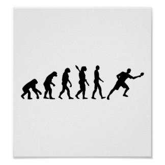 Ping-pong de los tenis de mesa de la evolución póster