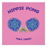Ping-pong de Pong del Hippie Posters