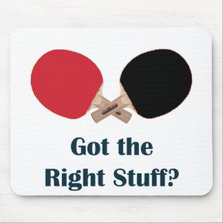 Ping-pong de Right Stuff Alfombrillas De Raton
