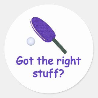 Ping-pong de Right Stuff Pegatina Redonda