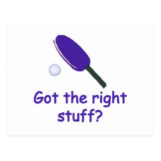 Ping-pong de Right Stuff Tarjetas Postales