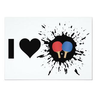 """Ping-pong del amor del explosivo I Invitación 5"""" X 7"""""""
