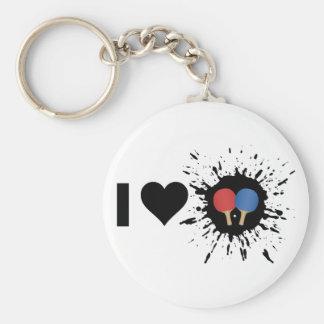 Ping-pong del amor del explosivo I Llavero Redondo Tipo Pin