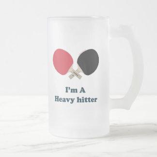 Ping-pong del bateador pesado taza cristal mate