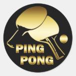 PING-PONG DEL ORO PEGATINAS
