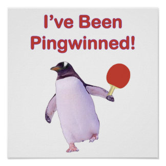 Ping-pong del pingüino de Pingwinned Impresiones