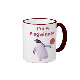 Ping-pong del pingüino de Pingwinner Taza De Dos Colores