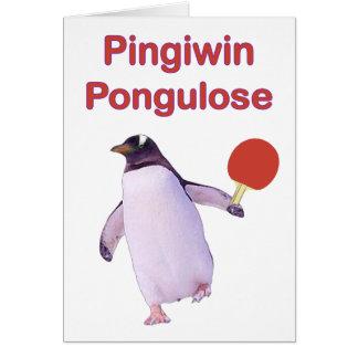 ping-pong del pingüino del uLose del iWin Tarjeta Pequeña