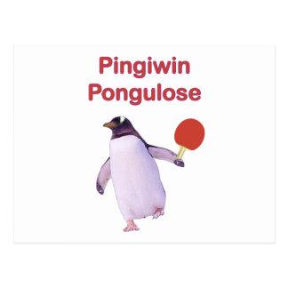 ping-pong del pingüino del uLose del iWin Tarjeta Postal