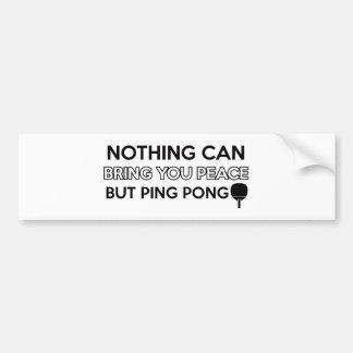 ping pong design bumper sticker