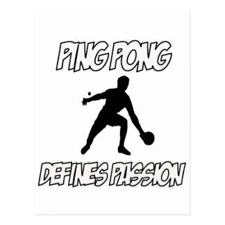 ping pong designs postcard