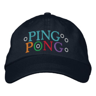 PING PONG EMBROIDERED HATS