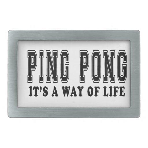 Ping-pong es manera de vida hebillas de cinturón