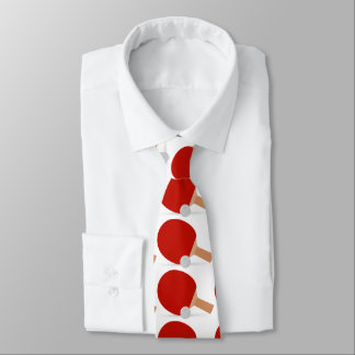 ping-pong for sportly people, red and white neck tie