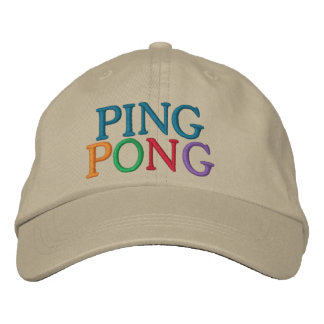 PING-PONG GORRAS BORDADAS
