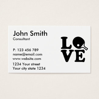 Ping Pong love Business Card
