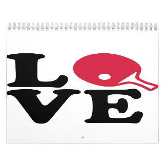 Ping pong love wall calendar