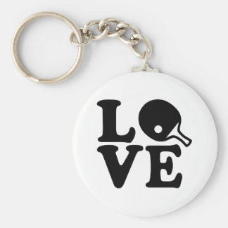 Ping Pong love Keychain