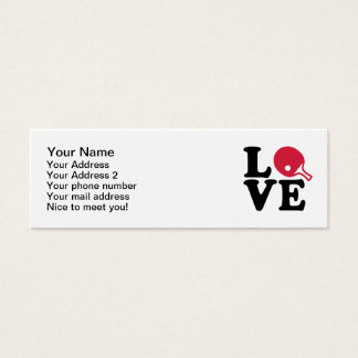Ping pong love mini business card