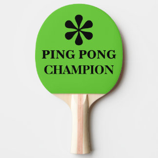 Ping Pong Master Champion Funny Text Humor Ping-Pong Paddle