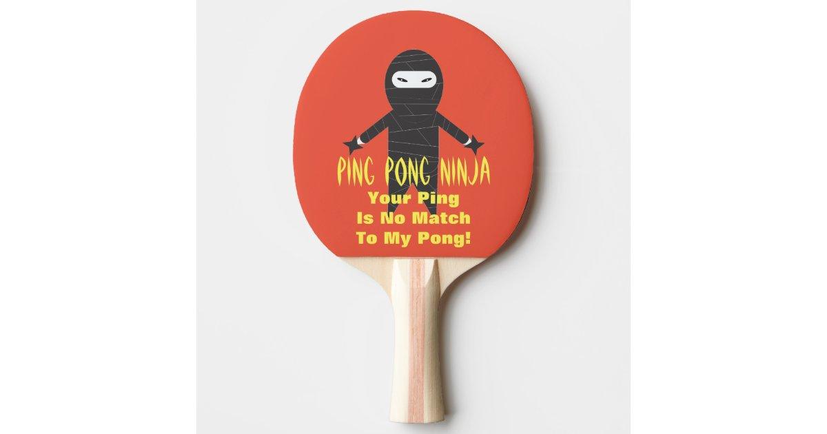 Ping Pong Ninja Funny Ping Pong Paddle Zazzle Com