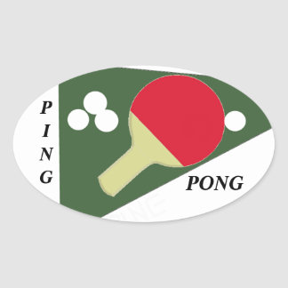 Ping Pong Oval Sticker