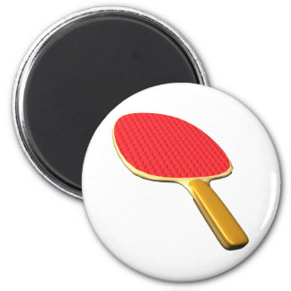 Ping Pong Paddle 2 Inch Round Magnet
