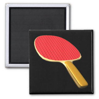 Ping Pong Paddle 2 Inch Square Magnet