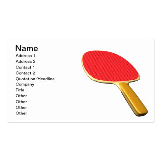 Ping Pong Paddle Business Card