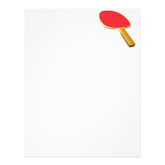 Ping Pong Paddle Personalized Letterhead