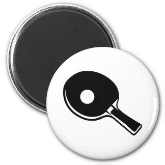 Ping pong paddle fridge magnet