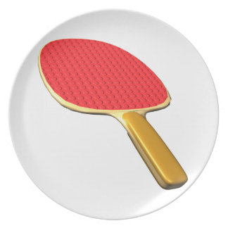 Ping Pong Paddle Melamine Plate