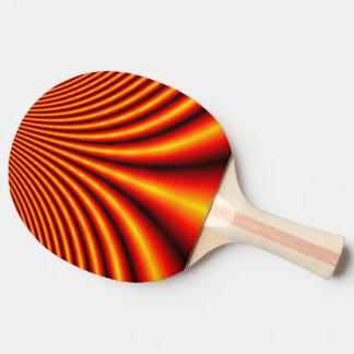 Ping Pong Paddle, Optical illusion yellow orange Ping-Pong Paddle