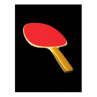 Ping Pong Paddle Postcard