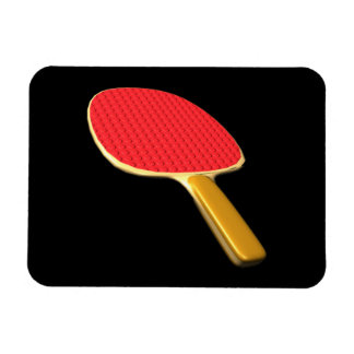 Ping Pong Paddle Rectangular Photo Magnet
