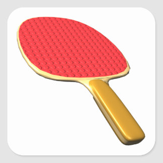 Ping Pong Paddle Square Sticker