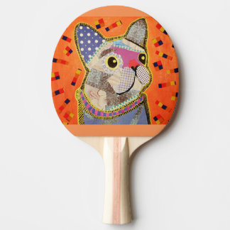 Ping Pong Paddle with Cute Puppy Dog