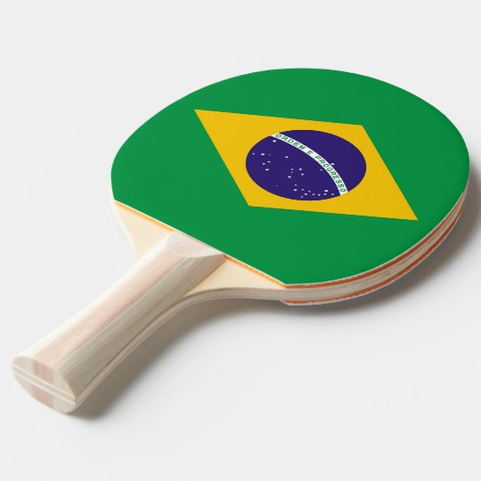12142211e Ping pong paddle with Flag of Brazil