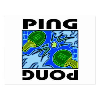 Ping Pong Paddles and Ball Table Tennis Postcard